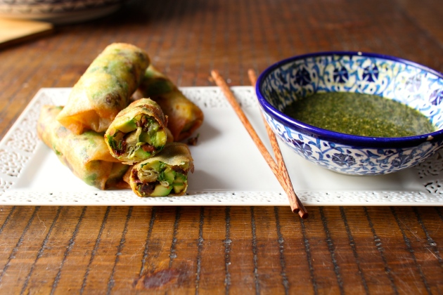Avocado Egg Rolls with Tamarind Honey Dipping Sauce | Rivka's Kitchen